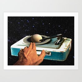 The DJ's Guide to the Galaxy Art Print