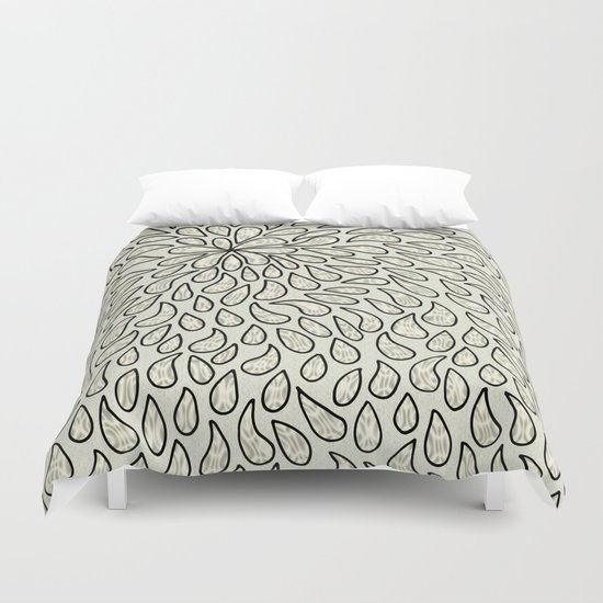 Pearlised Drops - Ivory Duvet Cover
