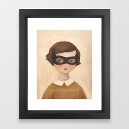 Kitten Bandit Framed Art Print