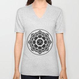 Black and White Mandala | Flower Mandhala Unisex V-Neck
