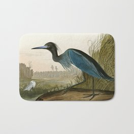 Little Blue Heron - John James Audubon's Birds of America Print Bath Mat