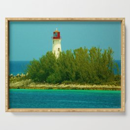Lighthouse by the Ocean Serving Tray