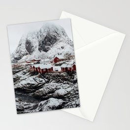 Mountain Village In Norway Stationery Cards