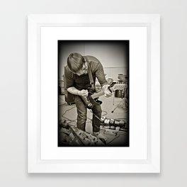Chuck Guitar Practice Framed Art Print