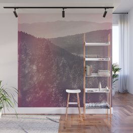 Light Leaked Forest Wall Mural