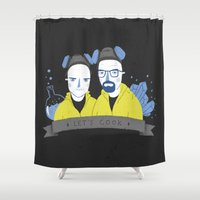 cook Shower Curtains featuring Let's cook by Paula García