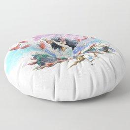 utopia apocalyptic obsessions Floor Pillow