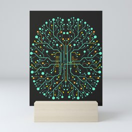 Brain Tech Mini Art Print