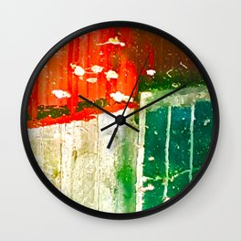 City Aflame and Drowning Wall Clock