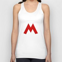 mario Tank Tops featuring Mario by Jynxit