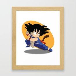 Kid Goku Illustration Framed Art Print