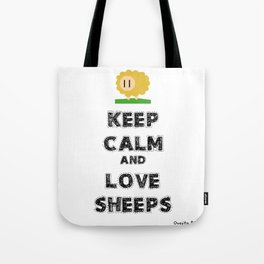 Keep calm and love sheeps Tote Bag