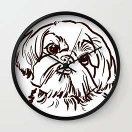 The sweet Shih Tzu dog love of my life! Wall Clock