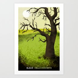 Elgar Cello Concerto Art Print