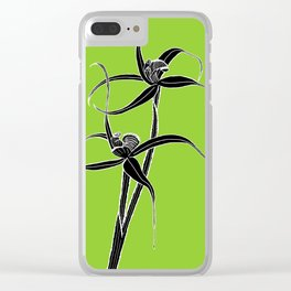 Spider Orchid Clear iPhone Case