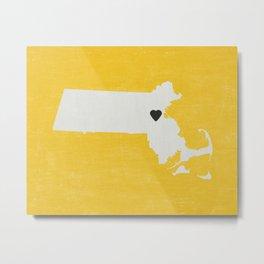 Massachusetts Love Metal Print