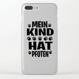 Dog man woman walk the dog paws kids gift Clear iPhone Case