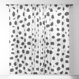 Black And White Cheetah Print Sheer Curtain
