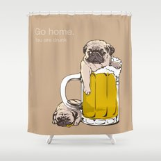 Go Home  Shower Curtain