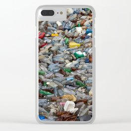 pollution by plastic bottles Clear iPhone Case