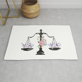 Scales of Justice Art Rug