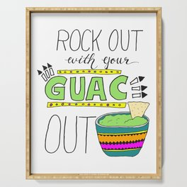 Rock out with your guac out (bright) Serving Tray