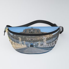 Ponte and Castel Sant'Angelo - Rome, Italy Fanny Pack
