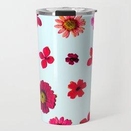 Wildflower Collage Travel Mug