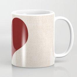 Knitted heart Coffee Mug