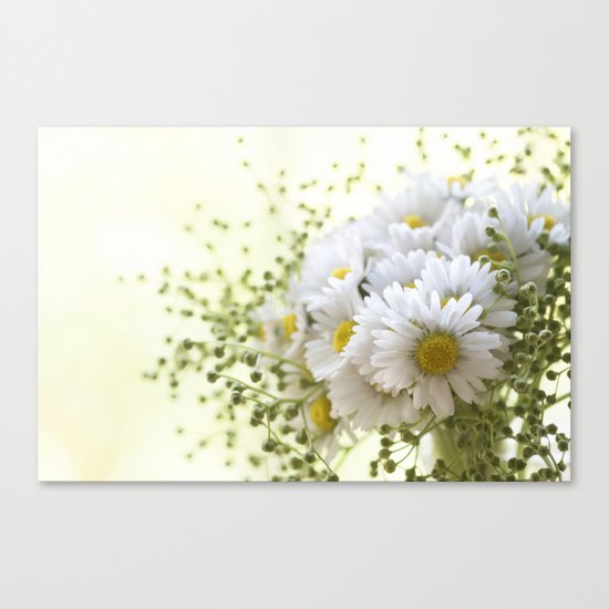 Bouquet of daisies in LOVE - Flower Flowers Daisy Canvas Print