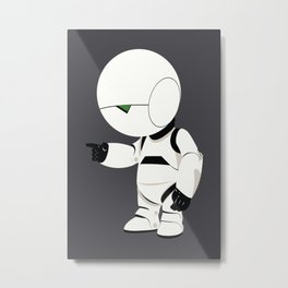 Marvin the Paranoid Android - The Hitchhiker's Guide to the Galaxy Metal Print