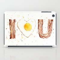 bacon iPad Cases featuring Bacon by Olechka