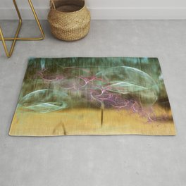 Laundry Line in Abstract Rug