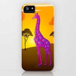 Paper Craft Giraffe iPhone Case