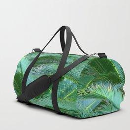 ABSTRACTED BLUE-GREEN TROPICAL PALMS GREEN ART Duffle Bag