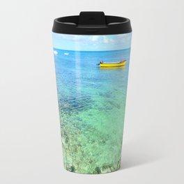 Exotic Blue Lagoon Indian Ocean Coral Reef Seascape Travel Mug