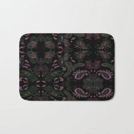 Pink Roses in Anzures 1 Paisley 1 Bath Mat