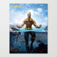 aquaman Canvas Prints featuring Aquaman by Art By AntB