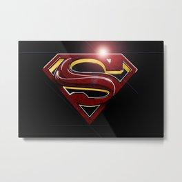 Superman Logo - MoS Style Metal Print
