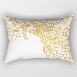 MELBOURNE AUSTRALIA CITY STREET MAP ART Rectangular Pillow