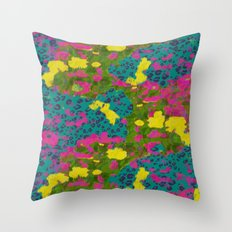 Jungle mix Throw Pillow