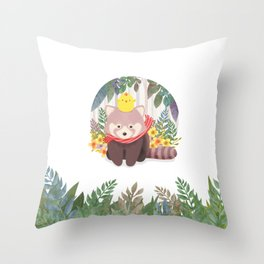 Roo&Pibi in the forest. Throw Pillow