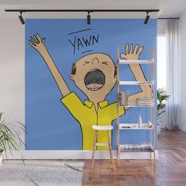 Bald Man Yawning  Wall Mural