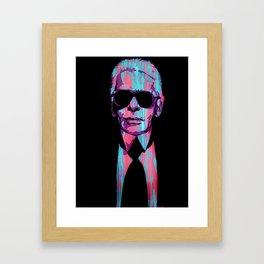 Karl Lagerfeld Portrait Pop Framed Art Print