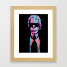 Karl Lagerfeld Portrait Pop Framed Art Print