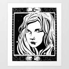 With Stars In Her Hair Art Print