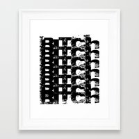 bitch Framed Art Prints featuring BITCH by Spotted Heart