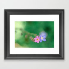 One Girl-One Boy, Forget-me-not Framed Art Print