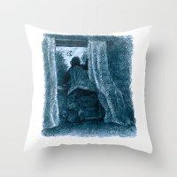 peter pan Throw Pillows featuring peter pan by jenapaul