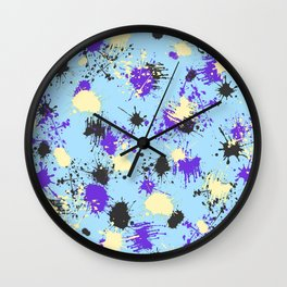 Vivid Contrast Splash 03 Wall Clock
